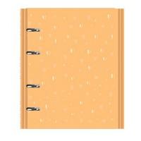 Caderno Argolado Romantic Amarelo
