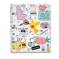 Caderno Argolado Fichário Beija Flor