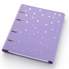 Caderno Argolado Romantic Lilás