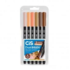 Caneta Brush Pen Dual Brush Tons de Pele