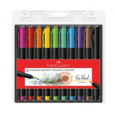 Caneta Brush SuperSoft 10 Cores - Faber-Castell