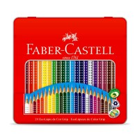 Lapis de cor Faber Castell c/24 Cores Lata